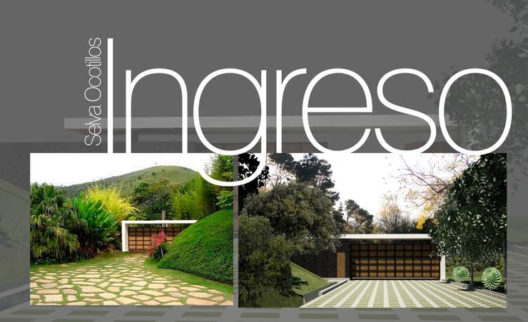 Acceso Principal:  de estilo  por Lobato Arquitectura