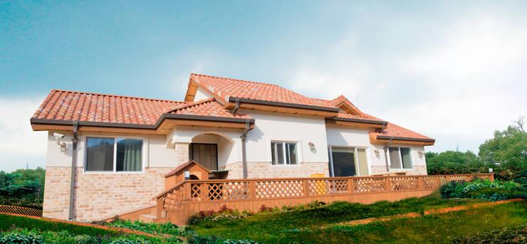 해질녘 노을이 아름다운 집: 꿈애하우징의  주택,지중해