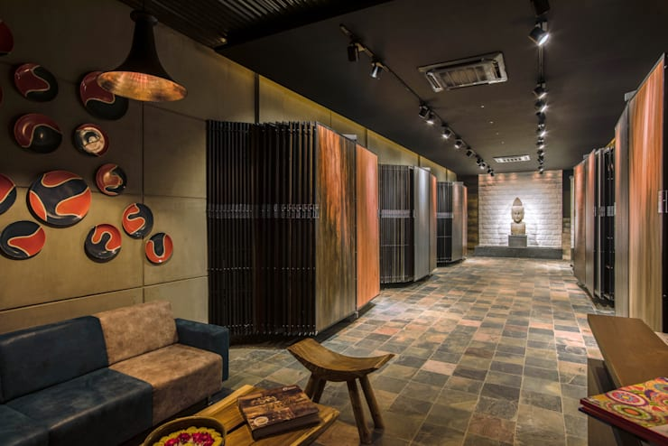 Display area: rustic Study/office by RUST the design studio