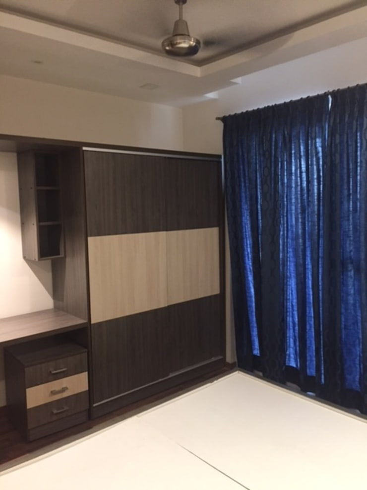 Residential projects:  Bedroom by Antarangni Interior p ltd