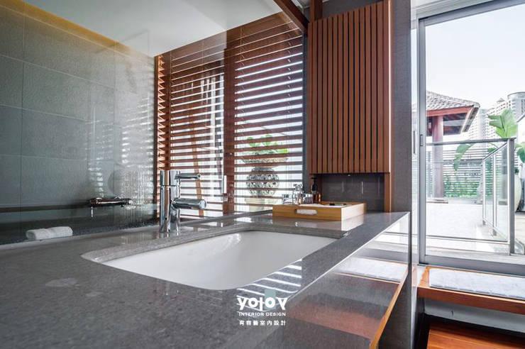 自然。隱逸 - 北歐風格:  浴室 by 有容藝室內裝修設計有限公司