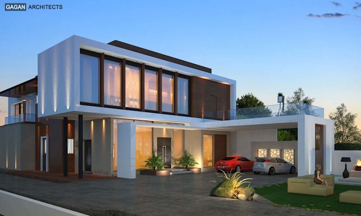Cantilever House at Jalandhar:   by Gagan Architects
