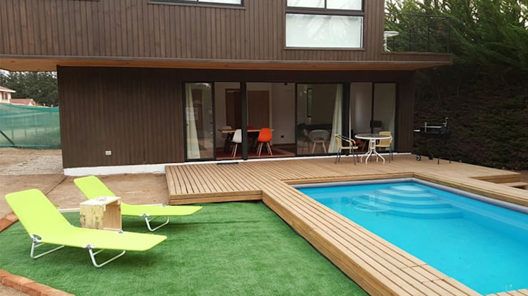 Casa Mirasol – Algarrobo: Casas de estilo  por Lares Arquitectura