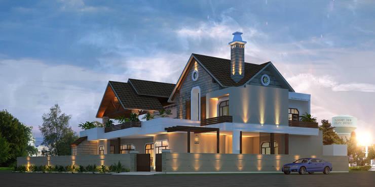 Modern Villa at Phagwara:   by Gagan Architects