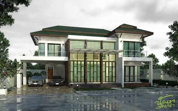 บ้านคุณหมอภูวดล - พระยาตรัง:   by บริษัท นันทสถาปนิก จำกัด