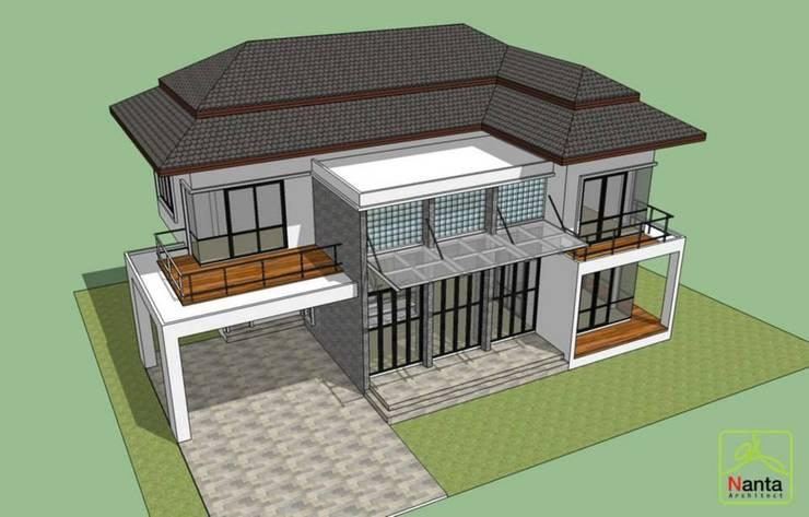 บ้านคุณหมอภูวดล – พระยาตรัง:   by บริษัท นันทสถาปนิก จำกัด