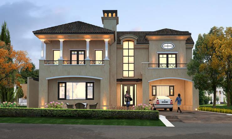 Italian Villa at Jandu Singha, Jalandhar:   by Gagan Architects
