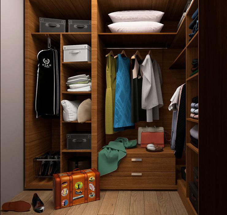 Vestidores y closets de estilo  por GM-interior
