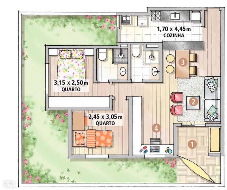 Corridor, hallway & stairs by Mariana Von Kruger Emme Interiores