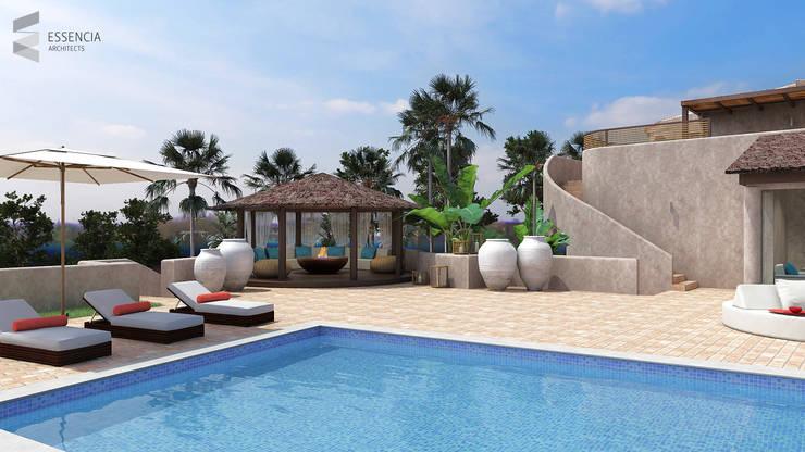 Remodelação de Moradia Existente - Algarve:   por Essencia Architects,
