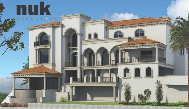 Fachada posterior: Casas de estilo  por nuk arquitech