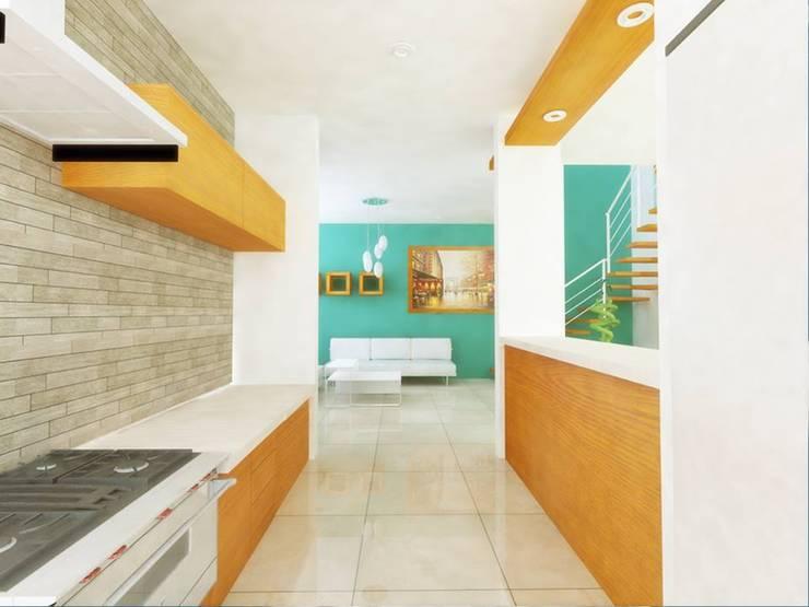 Cocinas de estilo  por DLR ARQUITECTURA/ DLR DISEÑO EN MADERA