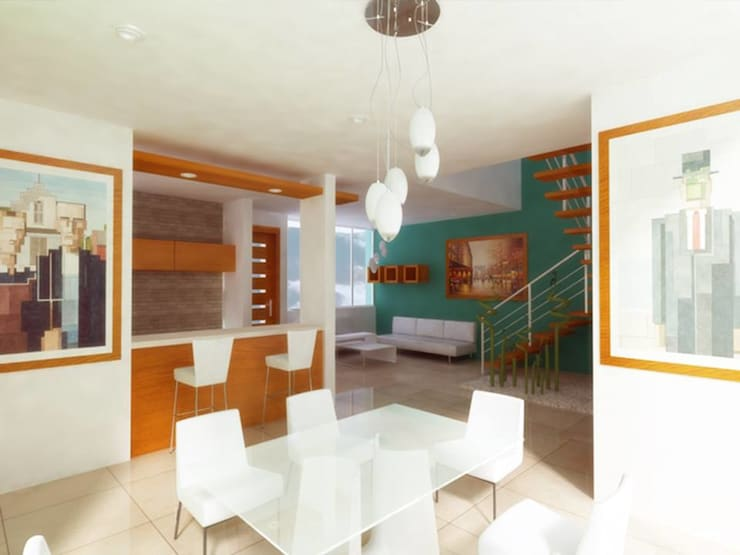 Dining room by DLR ARQUITECTURA/ DLR DISEÑO EN MADERA