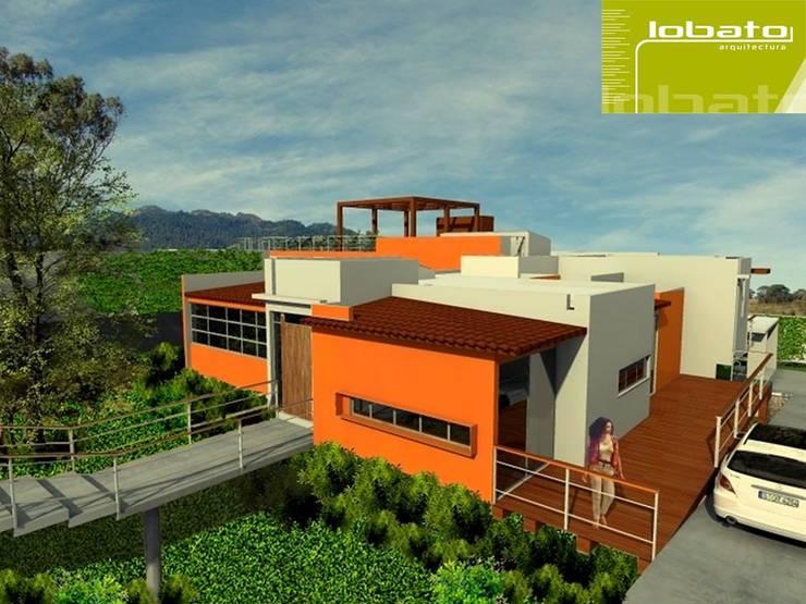 Perspectiva : Casas de estilo  por Lobato Arquitectura