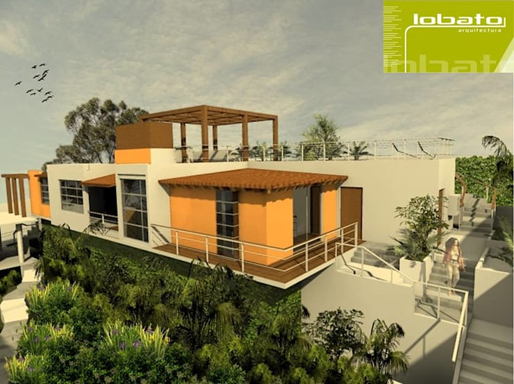 Vista Exterior : Casas de estilo  por Lobato Arquitectura