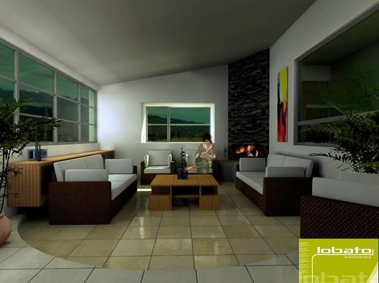 Sala de Estar : Salas de estilo  por Lobato Arquitectura