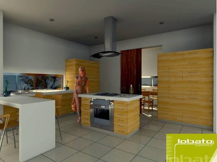 Cocina : Cocinas de estilo  por Lobato Arquitectura