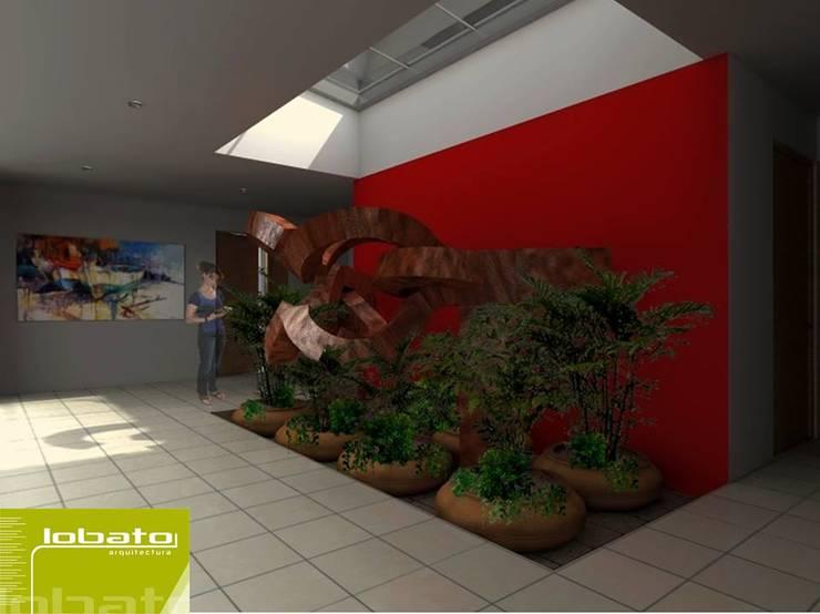 Jardín Interior : Jardines de estilo  por Lobato Arquitectura