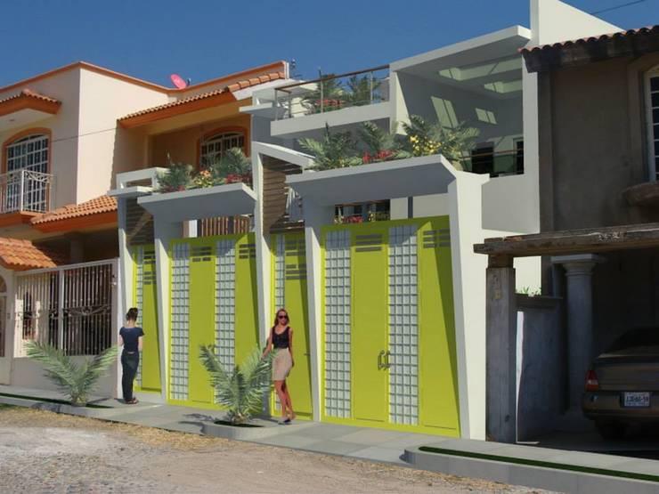 Propuesta Fachada : Casas de estilo  por Lobato Arquitectura