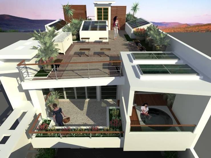 Vista Exterior : Terrazas de estilo  por Lobato Arquitectura