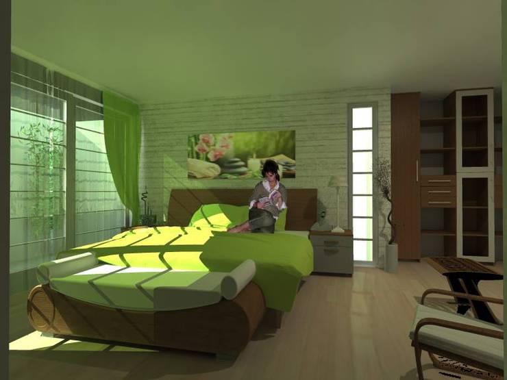 Recamara : Recámaras de estilo  por Lobato Arquitectura