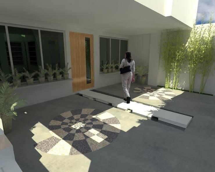 Acceso Principal : Casas de estilo  por Lobato Arquitectura