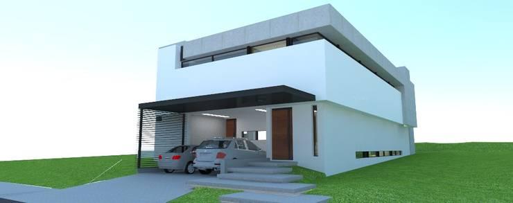 Vista de acceso a la vivienda: Casas de estilo  por ARQUIGRAF YB,