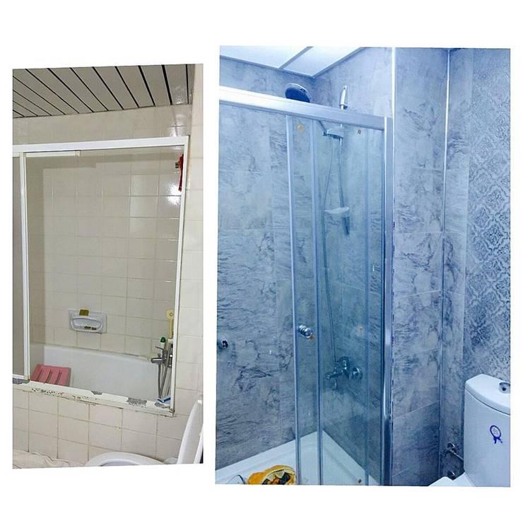 Dekoroba İç Mimari & Dekorasyon – BANYO YENİLEME: modern tarz Banyo