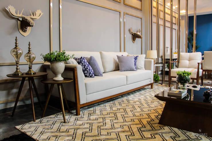 Living room by Studio KT arquitetura.design