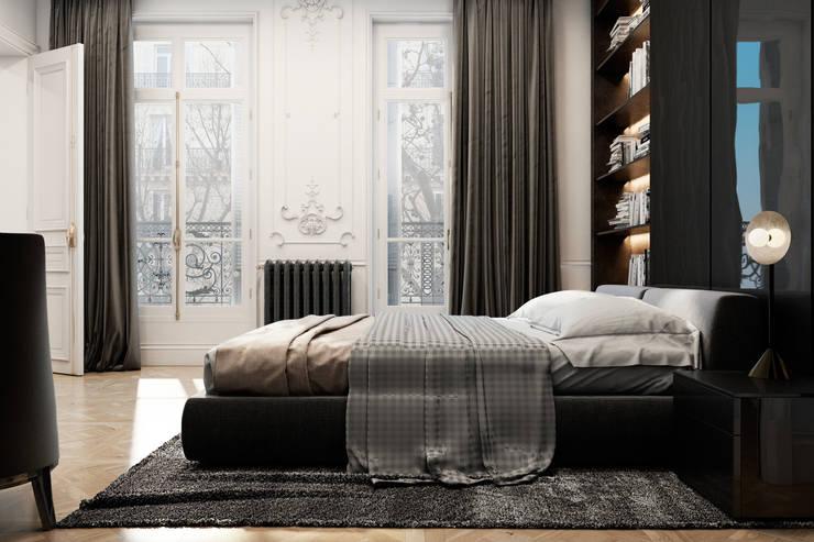 Exquisite flat in Paris: Спальни в . Автор – Diff.Studio