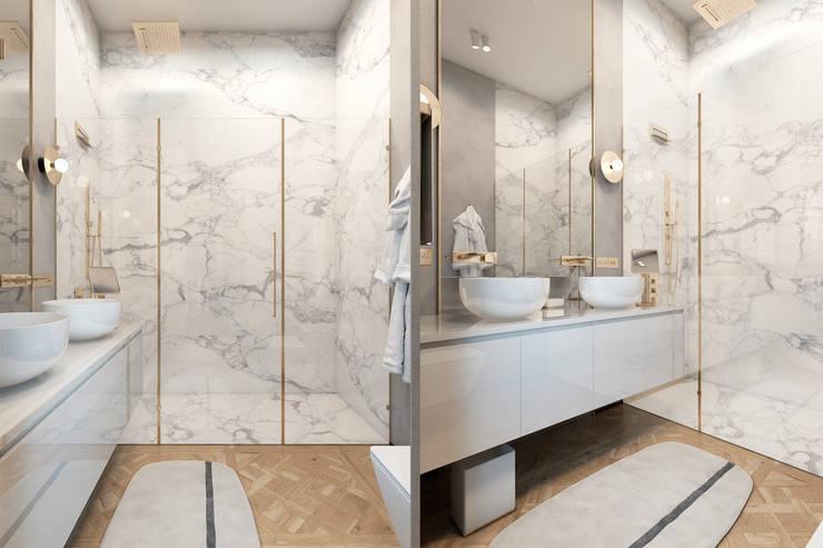 Exquisite flat in Paris: Ванные комнаты в . Автор – Diff.Studio