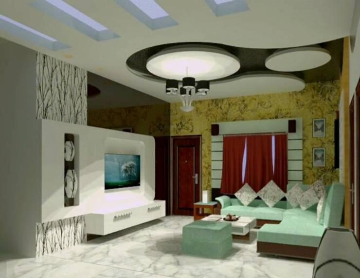 Living area design:  Living room by Fervor design,Modern Wood Wood effect
