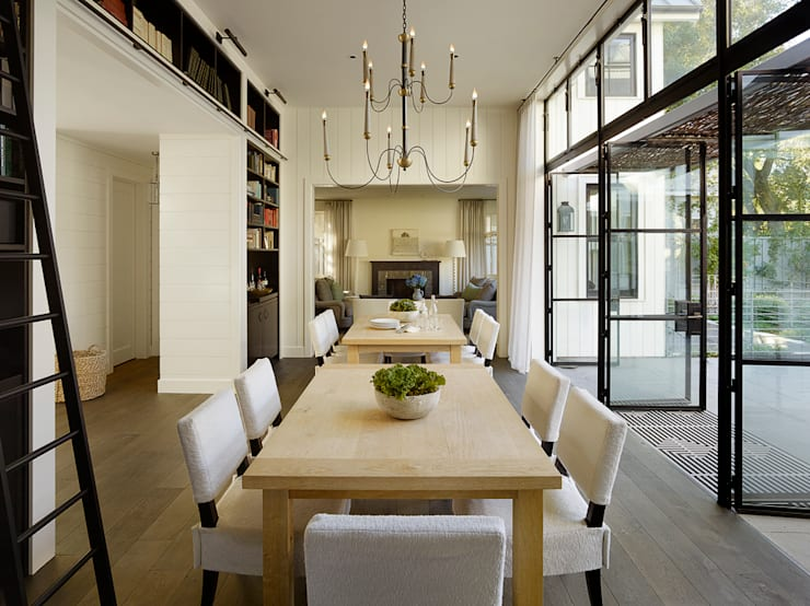 The Grange:  Dining room by Feldman Architecture