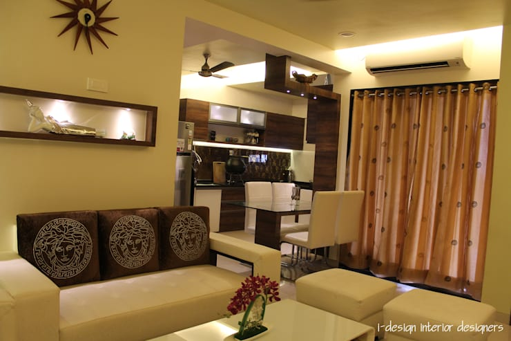 3bhk:  Dining room by I - design interior designer's