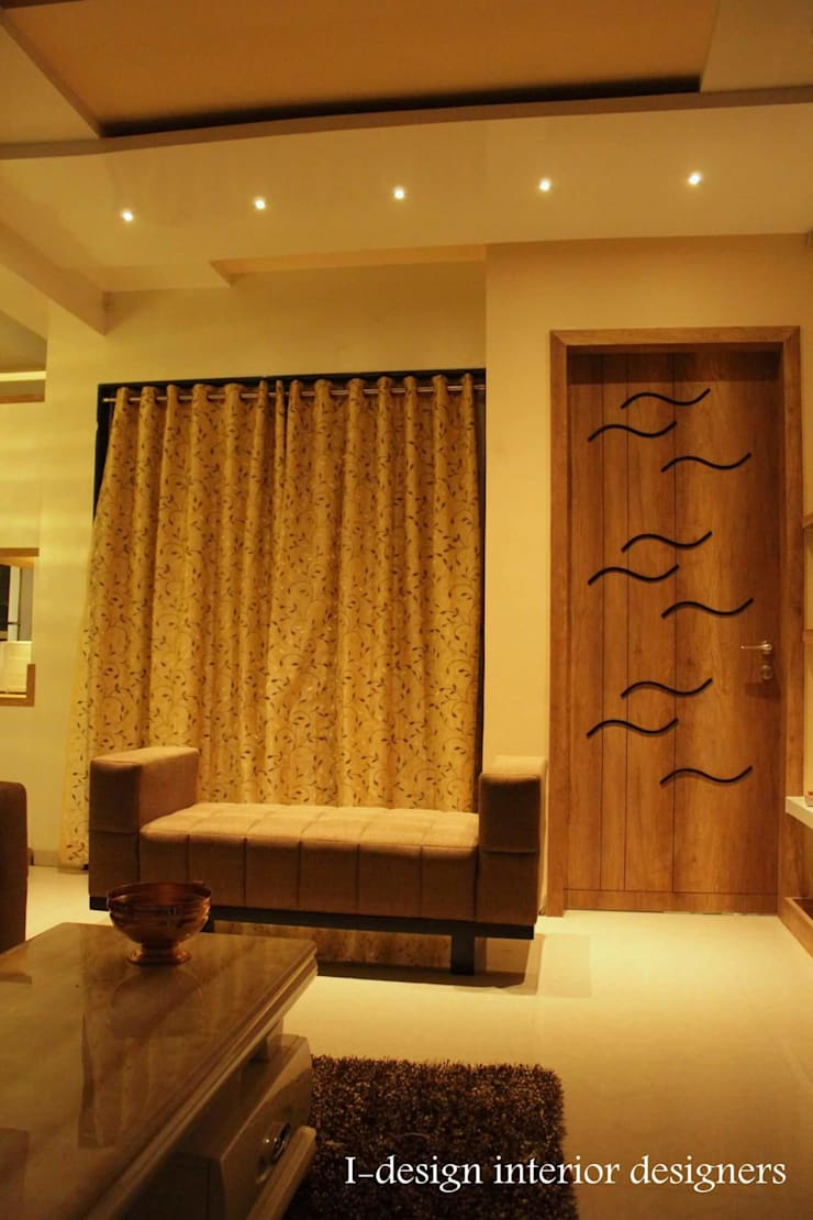 3bhk:  Living room by I - design interior designer's ,Modern Plywood