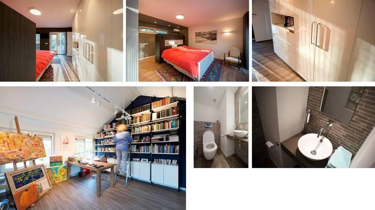 Bosvilla Rosmalen:  Slaapkamer door Studio'OW Interieurontwerp, Modern