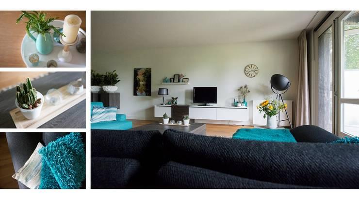 Appartement Goirle:  Woonkamer door Studio'OW Interieurontwerp, Modern