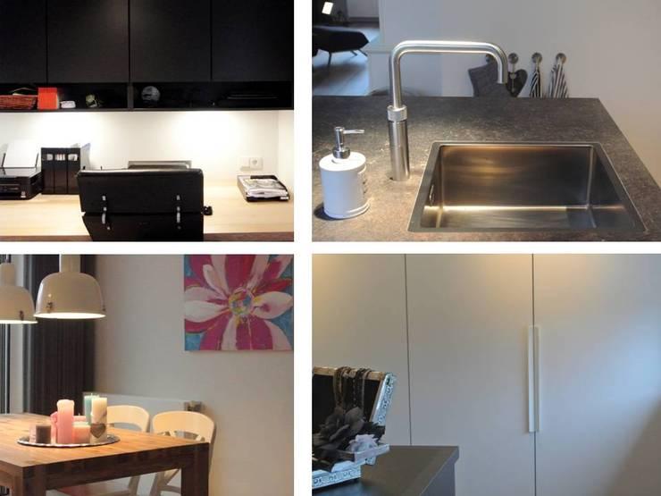 Woonhuis Goirle:  Woonkamer door Studio'OW Interieurontwerp