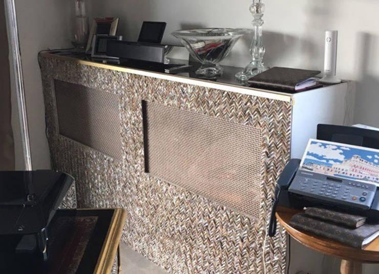 River Shell Teeth Radiator Covers:  Living room by ShellShock Designs