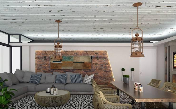 Moderner Wintergarten von Murat Aksel Architecture Modern Holz Holznachbildung
