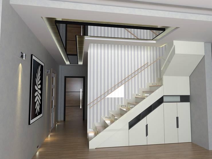Moderner Flur, Diele & Treppenhaus von Murat Aksel Architecture Modern Holz Holznachbildung