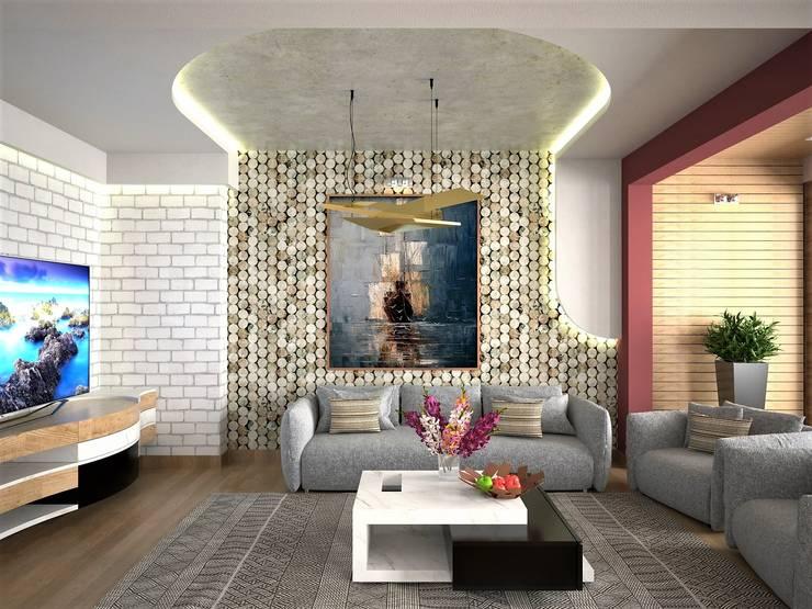Moderne Wohnzimmer von Murat Aksel Architecture Modern Stein