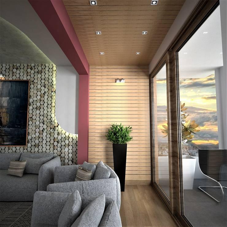 Moderne Wohnzimmer von Murat Aksel Architecture Modern Holz Holznachbildung