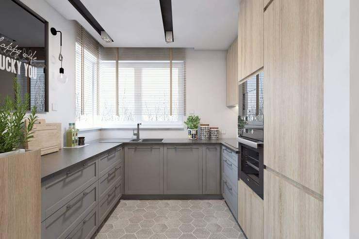Projekt domu jednorodzinnego 10: styl , w kategorii Kuchnia zaprojektowany przez BAGUA Pracownia Architektury Wnętrz