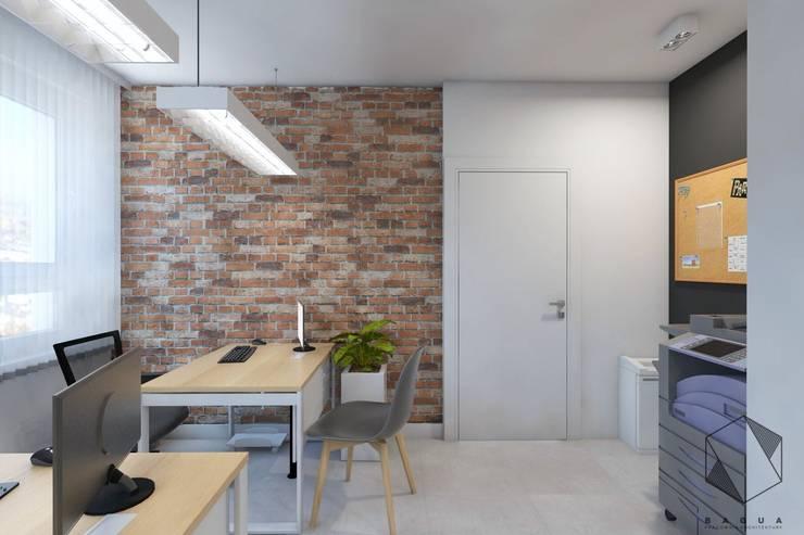 Projekt biura 1: styl , w kategorii Biurowce zaprojektowany przez BAGUA Pracownia Architektury Wnętrz