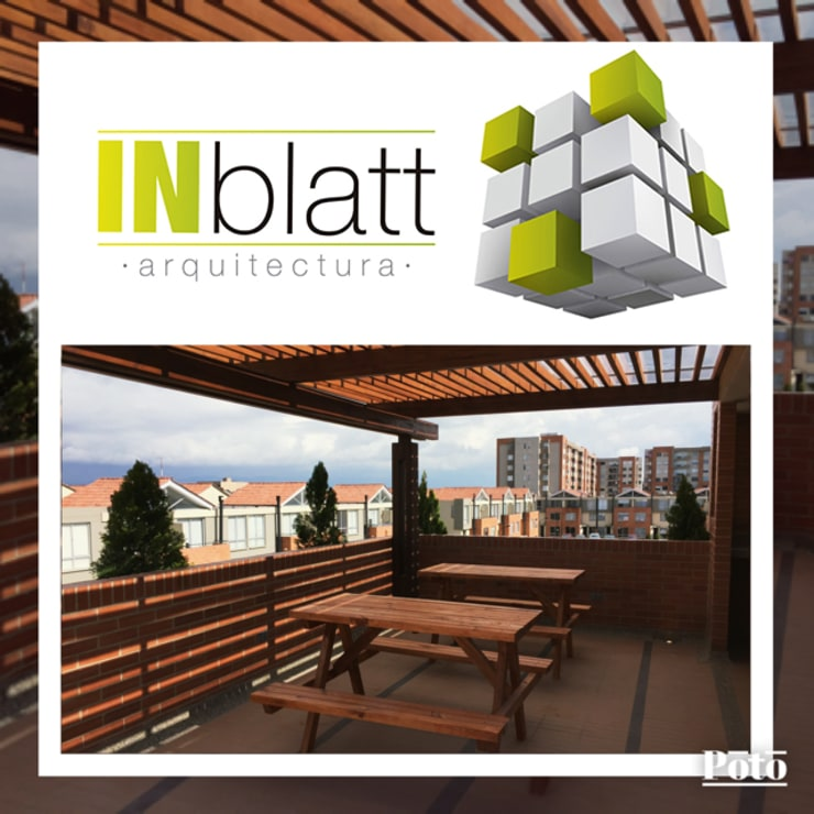 Diseño Arquitectónicoy Construcción Area Social Reserva de Mallorca Et. I Balcones y terrazas modernos de INblatt _Arquitectura Moderno Madera maciza Multicolor
