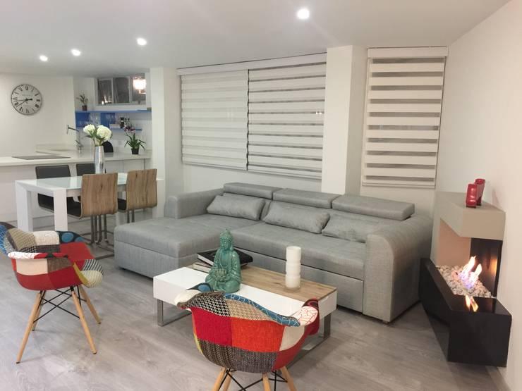 Diseño Arquitectónico y Remodelación Apartamento Loaiza - Rangel: Salas de estilo moderno por INblatt _Arquitectura