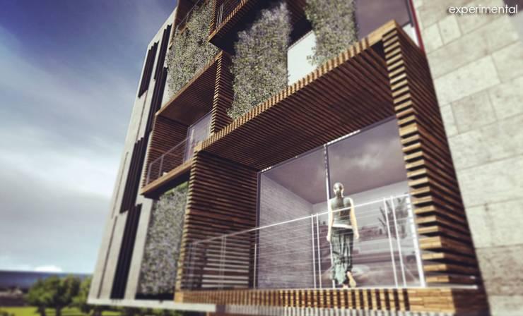 VISTA DE BALCONES: Casas de estilo  por CA ARQUITECTOS