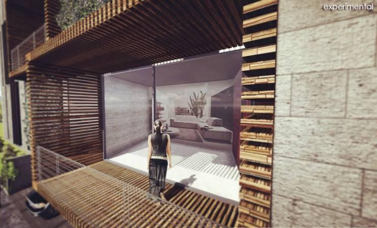VISTA DEL AREA DE TERRAZA: Casas de estilo  por CA ARQUITECTOS