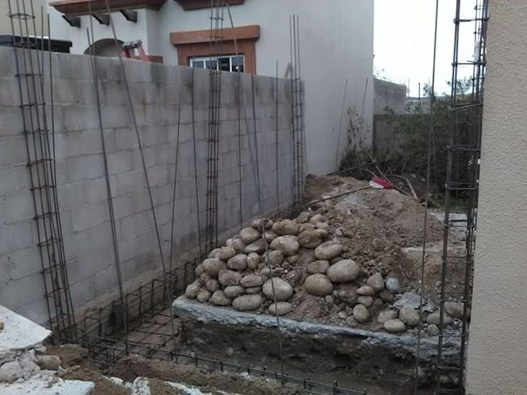 Cimentación: Casas de estilo  por CA ARQUITECTOS